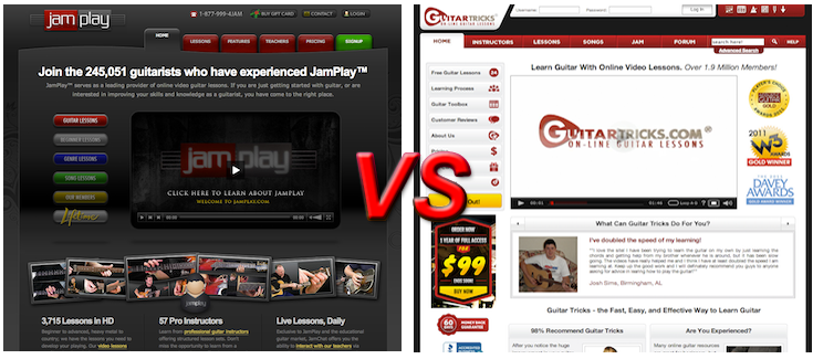 GuitarTricks vs JamPlay Membership Reviews