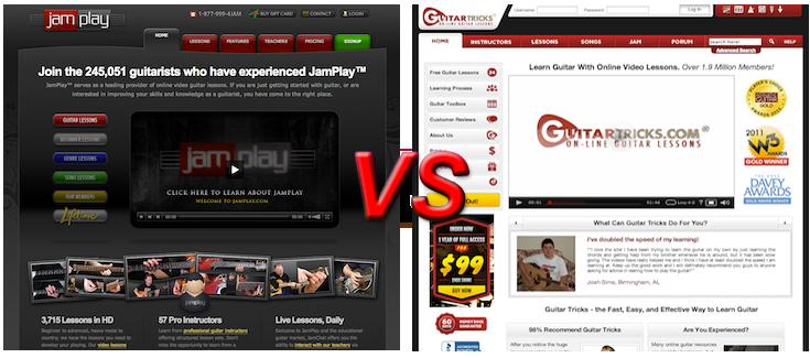 GuitarTricks vs JamPlay Membership Reviews